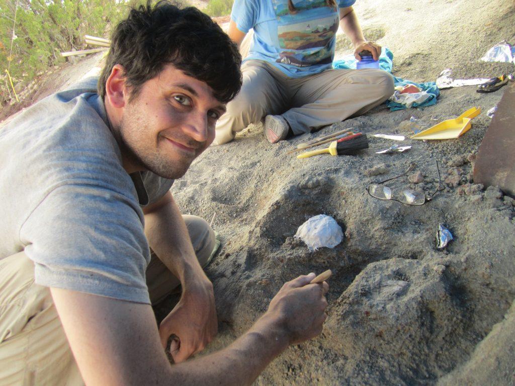Adam digs dinosaurs.